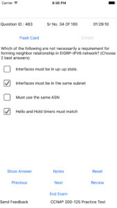 exam sim for iphone app